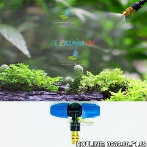 Đầu tưới sương đồng 1 hướng gắn ống 12mm Florain