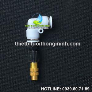Béc đồng phun sương 1 tia gắn ống cứng 8mm cao cấp STNC