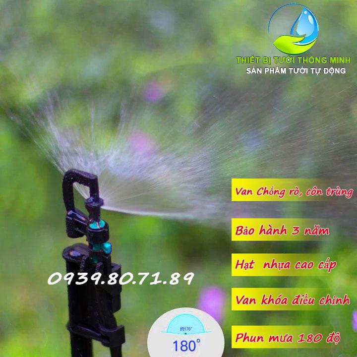 Đầu tưới phun mưa xòe 180 độ Mini sprinkler PRO-3