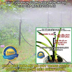 Đầu tưới cắm gốc phun sương mịn 360 độ Malee Mist-360 Thái Lan