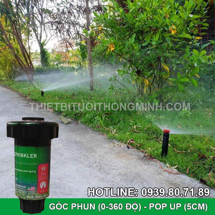 Béc tưới cỏ phun mưa pop pup 5cm cao cấp