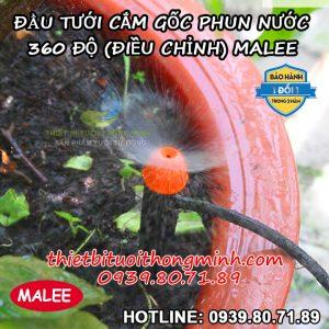Đầu tưới phun mưa 360 độ cắm gốc Malee