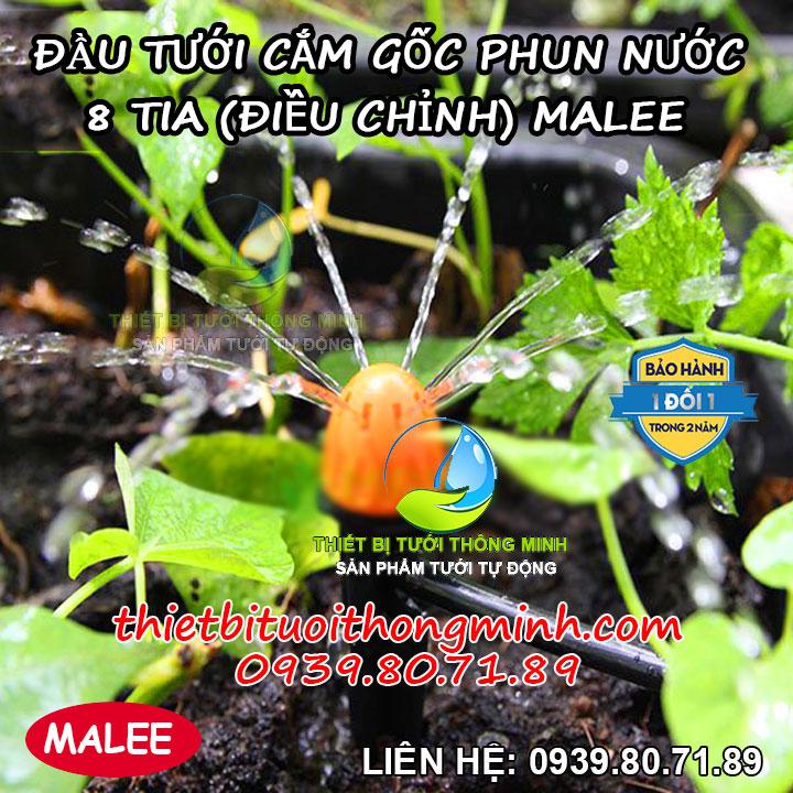 Đầu tưới cắm gốc phun nước 8 tia Malee