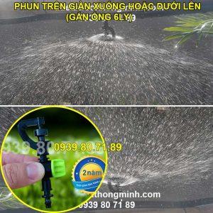 Đầu tưới phun mưa 360 độ tưới cây cao cấp Malee chân thẳng 6mm và 8mm