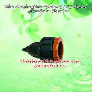 Đầu nối ren trong 21 27mm giảm 6 8mm Florain