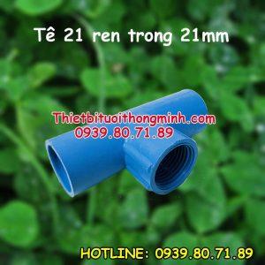 Tê 21 ren trong 21mm ống PVC