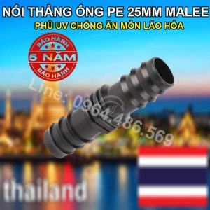 Nối thẳng ống pe 25mm Malee