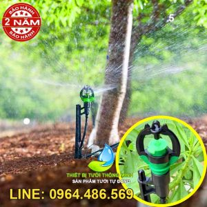 Béc tưới phun mưa bù áp cục bộ cây cắm 50cm 60 lít giờ Florain